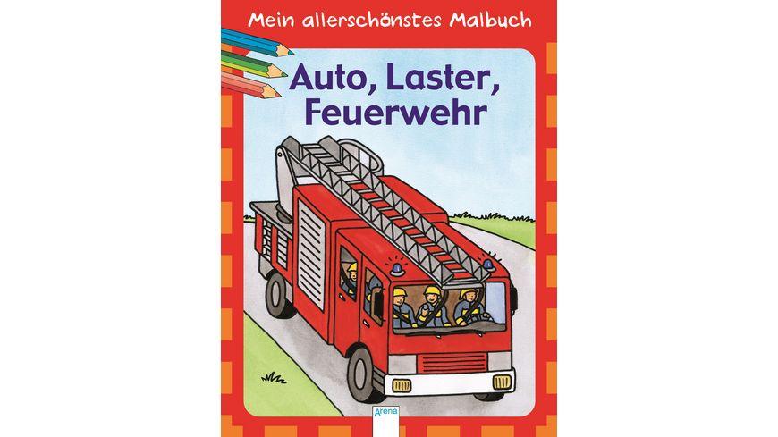 Buch ARENA Mein allerschoenstes Malbuch Auto Laster Feuerwehr