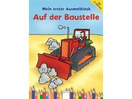 Buch ARENA Auf der Baustelle Mein Arena Ausmalblock