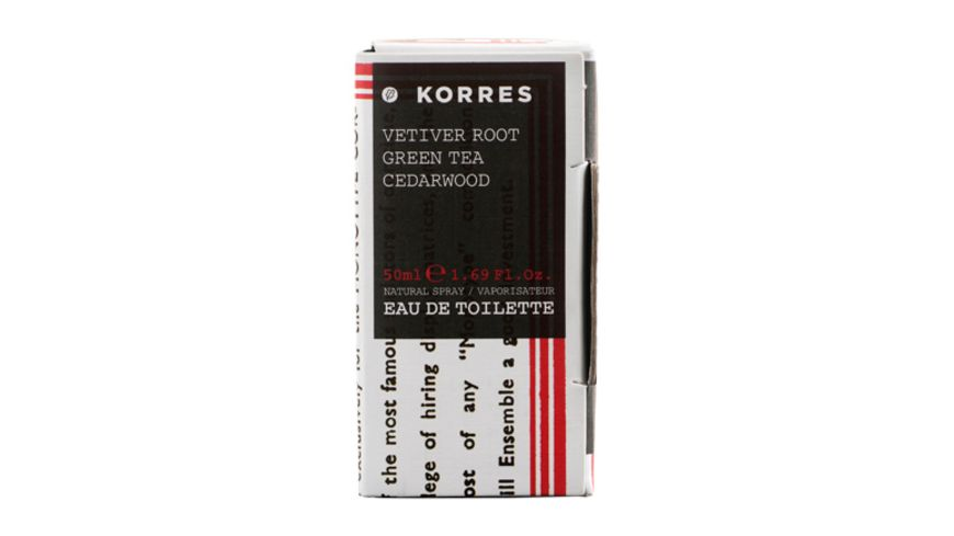 KORRES Vetiver Root Green Tea Cedarwood Eau de Toilette