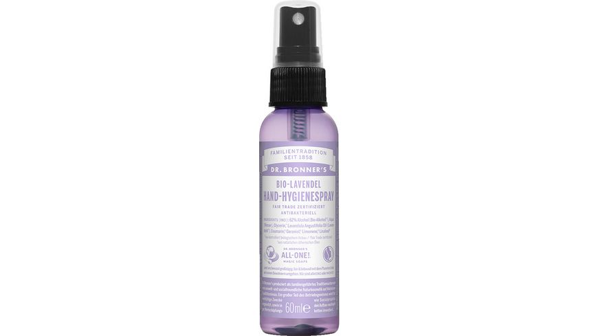 DR BRONNER S natuerliches Fair Trade Handhygienespray