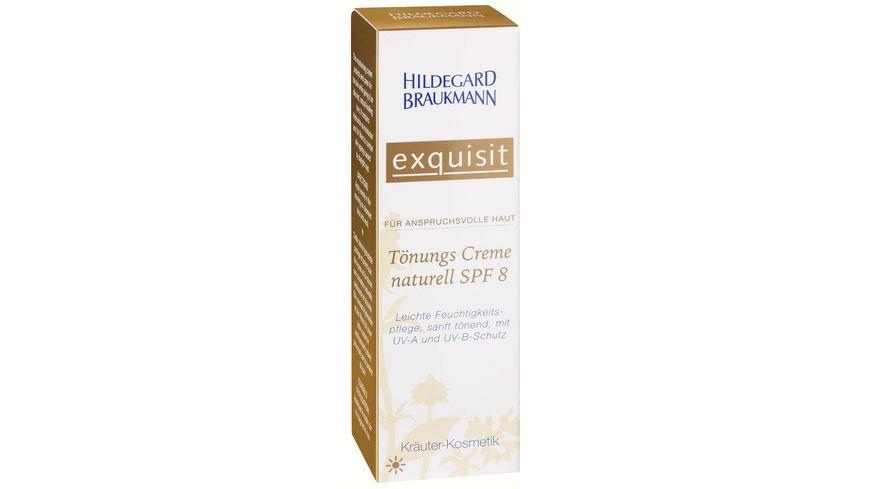 HILDEGARD BRAUKMANN exquisit Toenungs Creme naturell SPF 8