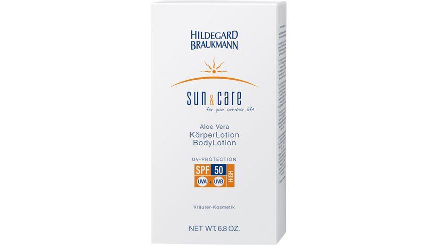 HILDEGARD BRAUKMANN sun care Aloe Vera Koerper Lotion LSF 50
