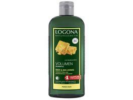 LOGONA Volumen Shampoo Bier Bio Honig