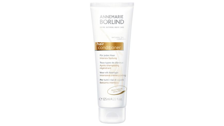 ANNEMARIE BOeRLIND Seide Natural Hair Care Conditioner Intensiv Spuelung