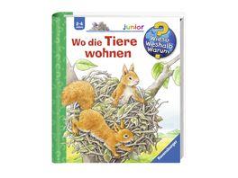Ravensburger Wieso Weshalb Warum junior Wo die Tiere wohnen Band 46