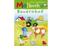 Tessloff Malen Raetseln mehr Mein schoenstes Malbuch Bauernhof
