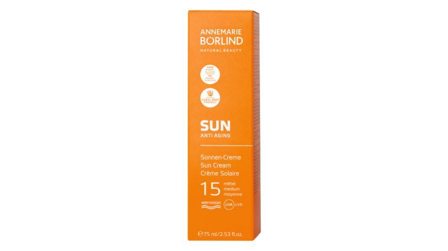 ANNEMARIE BOeRLIND Sun Anti Aging Sonnen Creme LSF 15