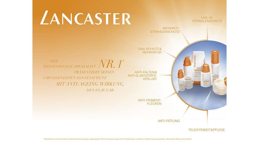 LANCASTER Sun Control Anti Wrinkles Dark Spots Sun Sensitive Skin Radiant Glow Cream LSF 50
