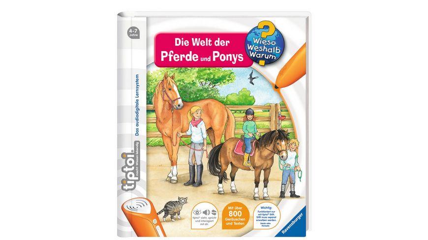 Ravensburger tiptoi Wieso Weshalb Warum Die Welt der Pferde und Ponys