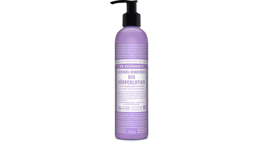 DR BRONNER S natuerliche Fair Trade Body Lotion Lavendel Kokosnuss