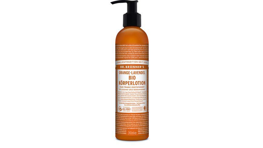 DR BRONNER S natuerliche Fair Trade Body Lotion Orange Lavendel
