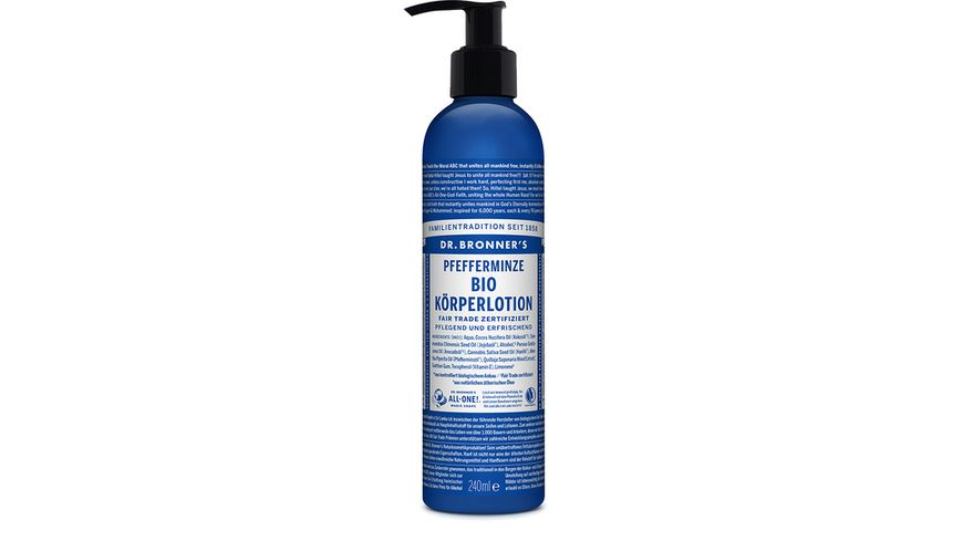 DR BRONNER S natuerliche Fair Trade Body Lotion Pfefferminze