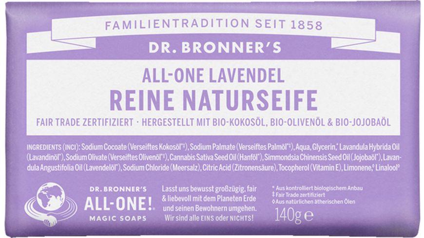 DR BRONNER S natuerliche Fair Trade Stueckseife Lavendel
