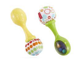 Fisher Price Babys Rumba Rasseln mit Stoff Baby Spielzeug Greifling