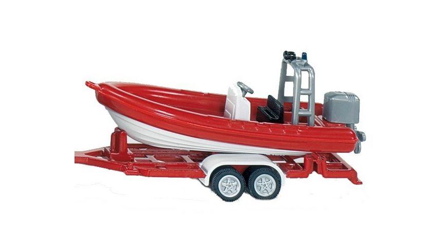 SIKU 1636 Super Unimog Feuerwehr mit Boot