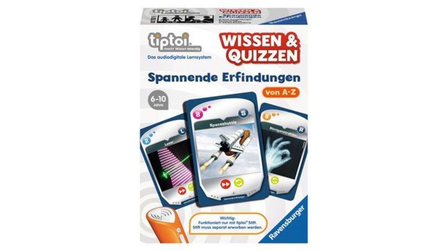 Ravensburger tiptoi Wissen Quizzen Spannende Erfindungen