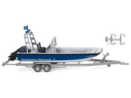 WIKING 009546 THW Mehrzweckboot MZB72 Lehmar