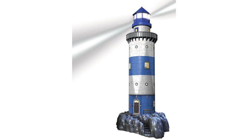 Ravensburger Puzzle 3D Vision Puzzle Leuchtturm bei Nacht 216 Teile