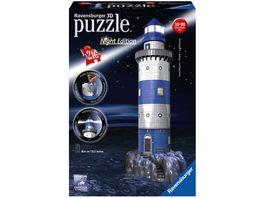 Ravensburger Puzzle 3D Puzzle Leuchtturm bei Nacht 216 Teile