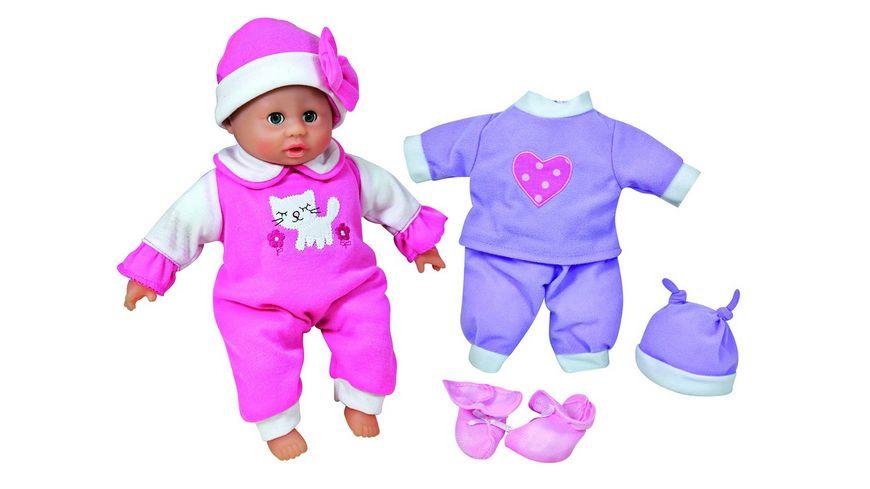 Mueller Toy Place Puppe Baby liebt neue Kleider