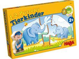 HABA 1 2 Puzzelei Tierkinder