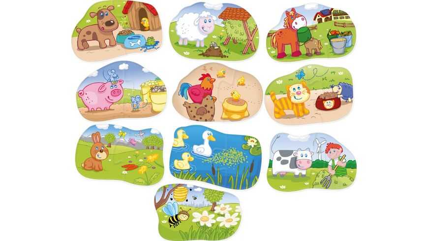 HABA 1 2 Puzzelei Tiere fuettern