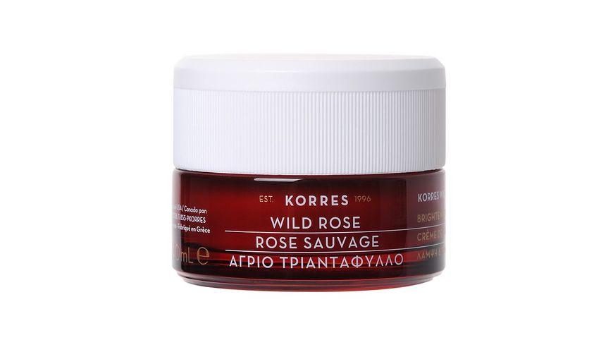 KORRES Wild Rose 24 Stunden Feuchtigkeitscreme fuer oelige Haut und Mischhaut