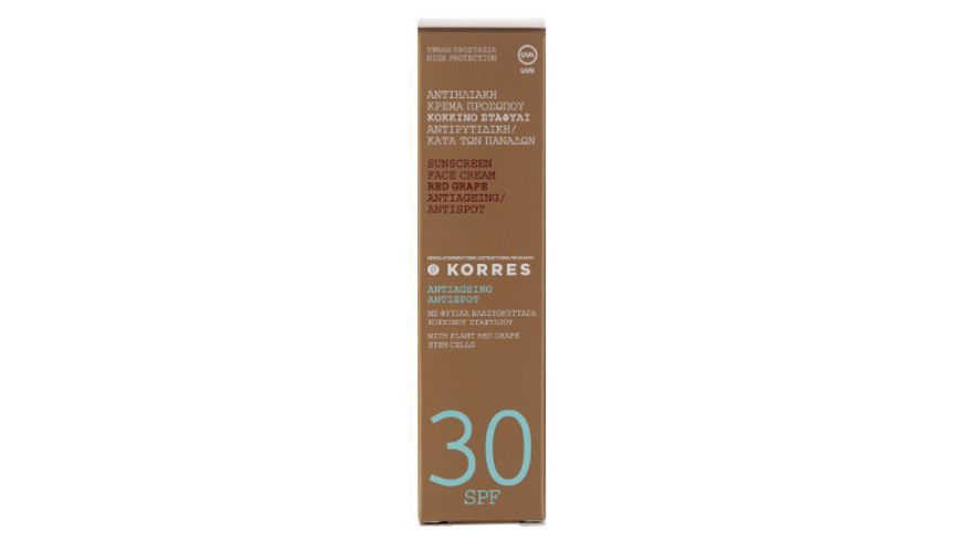 KORRES Red Grape Anti Dark Spot Sonnencreme LSF 30