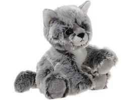 Heunec Softissimo Glitter Kitty Katzen Baby graumeliert 20 cm