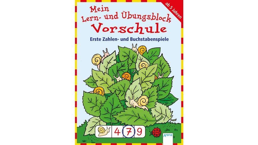 Buch Arena Mein Lern und Uebungsblock Vorschule Erste Zahlen und Buchstabenspiele