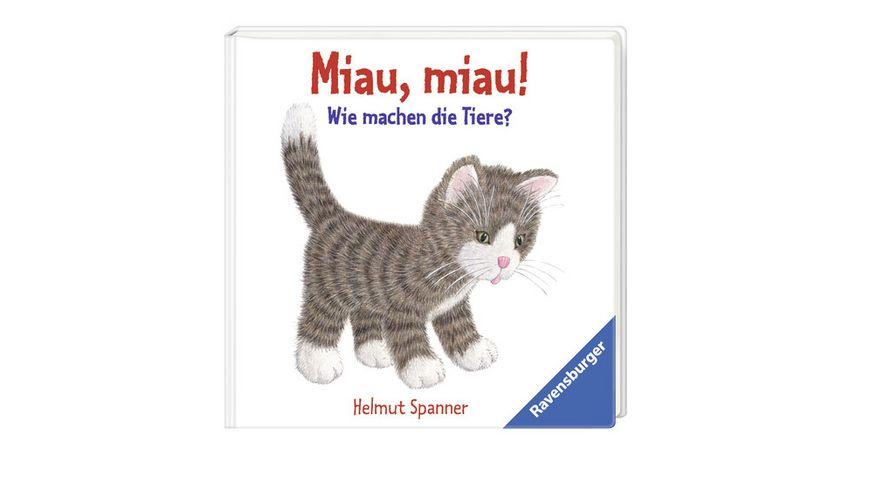 Ravensburger Spanner Miau miau Wie machen die Tiere