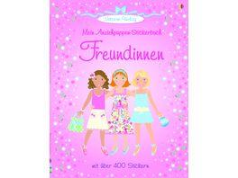 Buch Usborne Verlag Mein Anziehpuppenstickerbuch Freundinnen