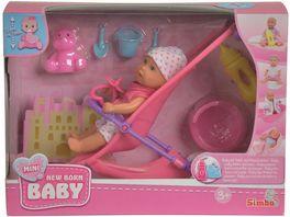 Simba Mini Baby Born Buggy Set