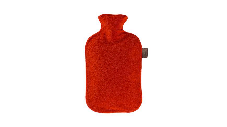 Fashy Waermflasche mit Vliesbezug 2 0 l kirschrot