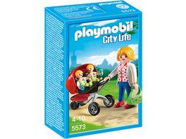 PLAYMOBIL City Life In der KiTa Zwillingskinderwagen