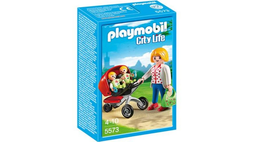 PLAYMOBIL 5573 City Life In der KiTa Zwillingskinderwagen
