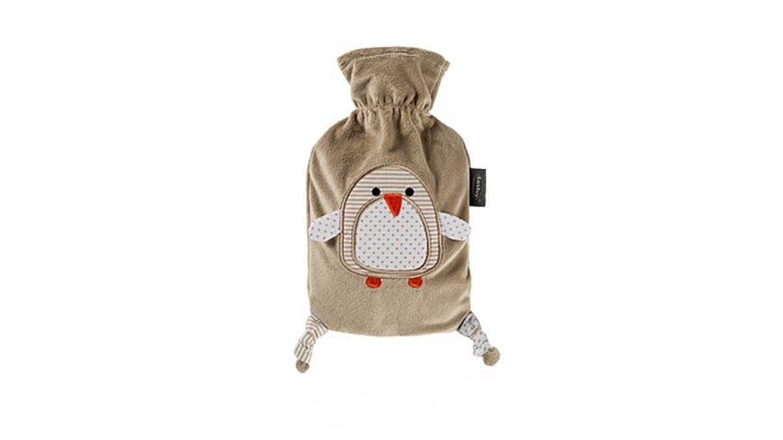 fashy Waermflasche 0 8 L mit Flauschbezug Pinguin Moll