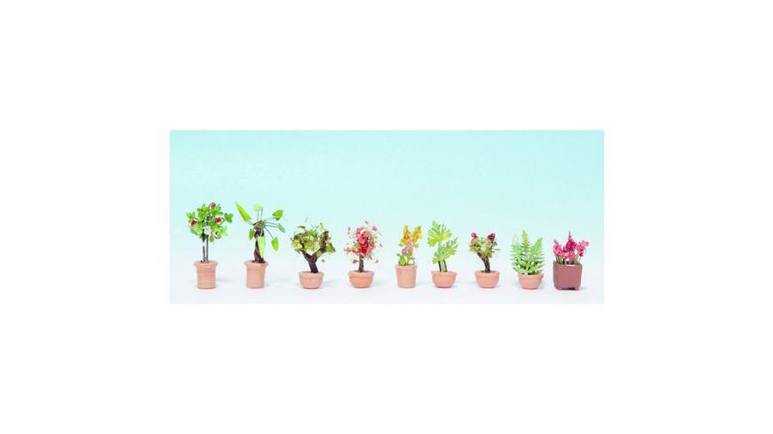 NOCH N 14082 Zierpflanzen in grossen Blumentoepfen