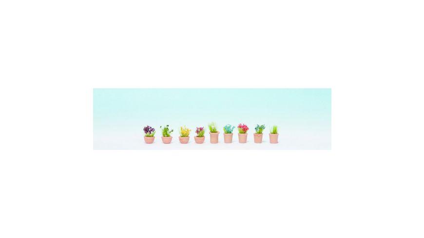 NOCH 14084 Blumen in kleinen Blumentoepfen