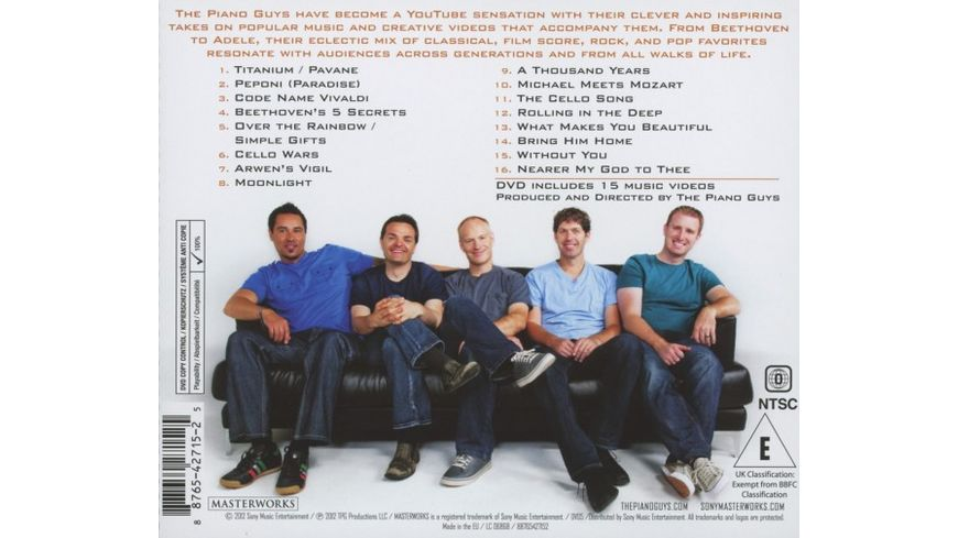 The Piano Guys CD DVD