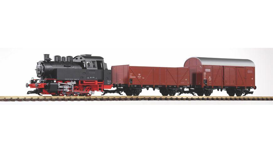 PIKO 37120 Gartenbahn Start Set Gueterzug BR 80 inkl Sound Dampf