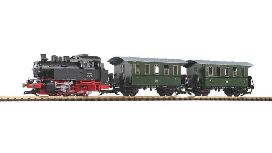 PIKO 37125 Gartenbahn Start Set Personenzug BR 80 inkl Sound Dampf