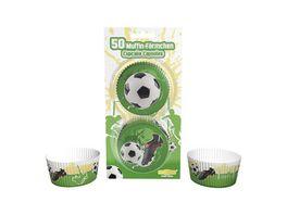 Dekoback Muffinfoermchen Fussball 50 Stueck