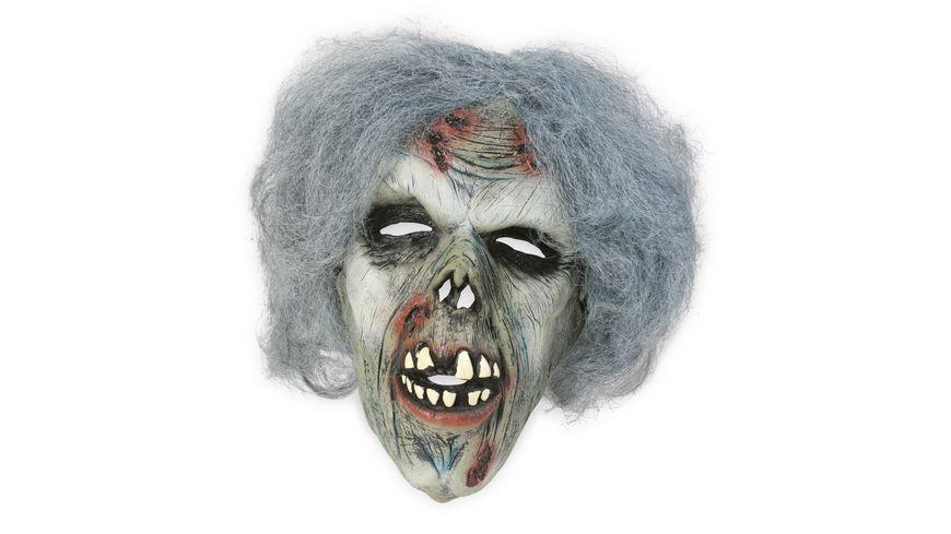 Fries Maske Zombie mit Haaren