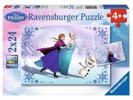 Ravensburger Puzzle Frozen Schwestern fuer immer 2x24 Teile