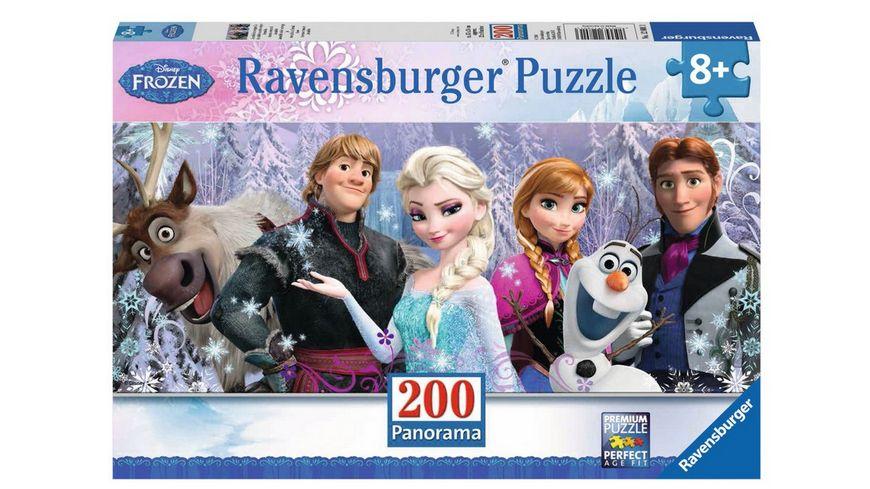Ravensburger Puzzle - Panorama Puzzle - Frozen - Arendelle im ewigen Eis, 200 XXL-Teile