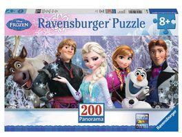 Ravensburger Puzzle Panorama Puzzle Frozen Arendelle im ewigen Eis 200 XXL Teile