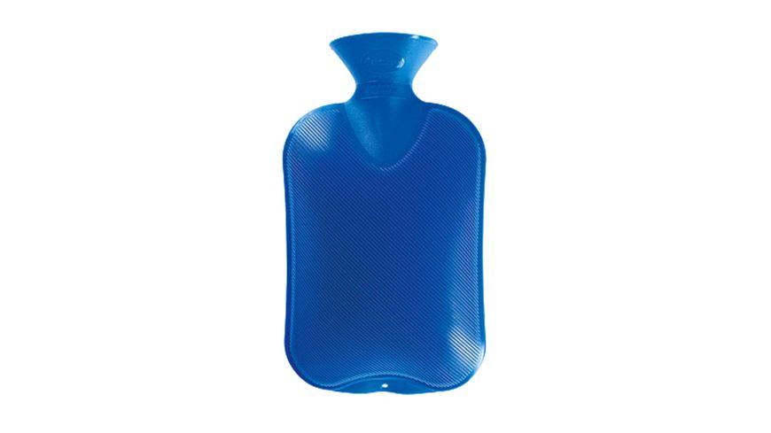 fashy Waermflasche Halblamelle 2l blau