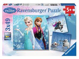 Ravensburger Puzzle Frozen Abenteuer im Winterland 3x49 Teile