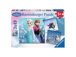 Ravensburger Puzzle Abenteuer im Winterland 3 x 49 Teile